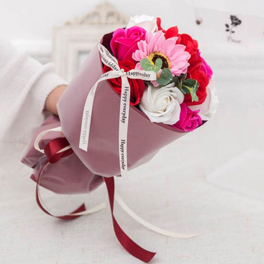 Nouveau bouquet simulé savon roses savon festival activités mariage saint valentin cadeaux créatifs décorations pour la maison LINTINGHAN - 5