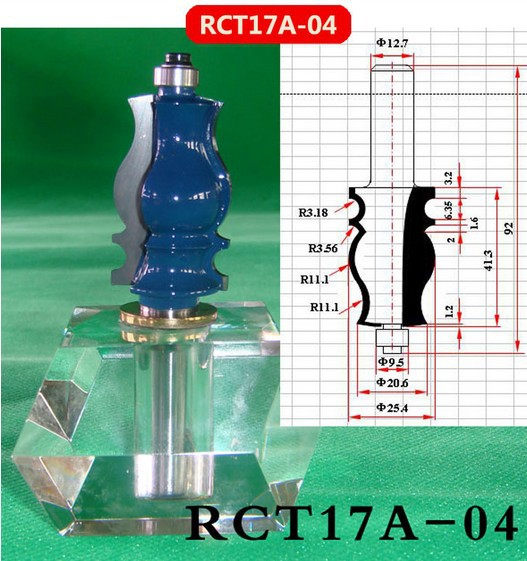 Industry Quality Carbide Wood Working Line Shape Molding Router Cutter Bits V Groove ( RCT17A-04 )  цены