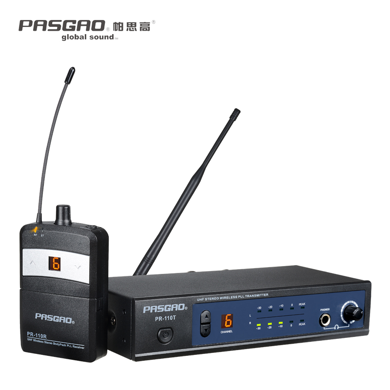 Pasgao PR110R stereo one channel good quality 655-679MHZ/838-865MHz  in ear monitor system Stereo Professional / Wireless IEM Pasgao PR110R stereo one channel good quality 655-679MHZ/838-865MHz  in ear monitor system Stereo Professional / Wireless IEM