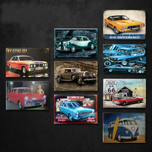 Car Vintage Tin Sign Bar Pub Home Wall Decor Retro Metal Art Beer Coffee Poster Plate 1001(223) 20x30cm