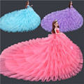 Abbyfrank Princess Doll With Large Tailing Wedding Dress Dress Beautiful Princess Clothing Accessories For Doll DIY Toys