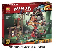 734 PCS Bela 10583 Dawn of Iron Doom Ninja Mini Figures Set Compatible Ninjagoes 70626 Building Blocks Toys for kids