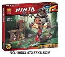 734 PCS Bela 10583 Dawn van Ijzer Doom Ninja Mini Cijfers Set Compatibel Ninjagoes 70626 Bouwstenen Speelgoed voor kinderen