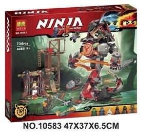 Image 1 - Bela 734 figuras del amanecer de Iron Doom Ninja, conjunto de Mini figuras compatibles con Ninjagoes 10583, Juguetes de bloques de construcción para niños, 70626