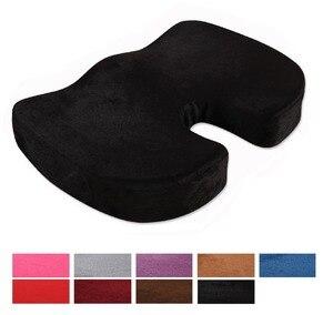 Image 1 - Sitz Kissen Kissen für Büro Stuhl 100% Speicher Schaum Lower Back Pain Relief Konturierte Haltung Corrector für Auto, rollstuhl