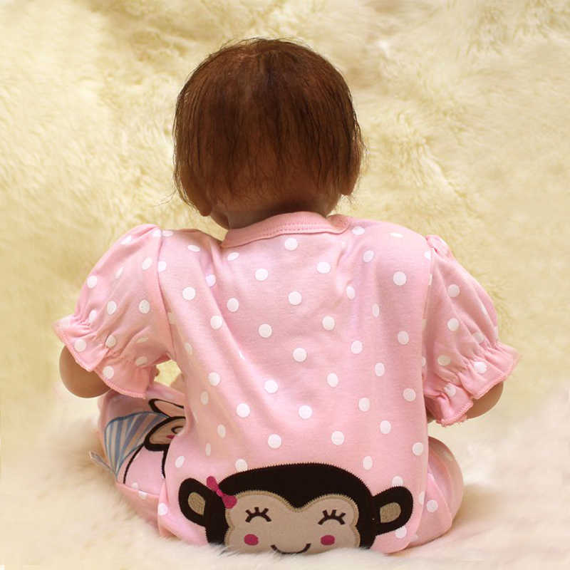 Nicery 20 дюймов 50 см Кукла реборн Мягкий Силиконовый мальчик девочка игрушка реборн кукла подарок для детей Розовая одежда обезьяна девочка кукла