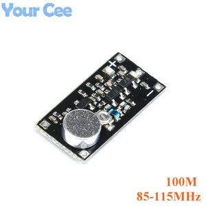 FM передатчик Беспроводная система наблюдения с микрофоном Модуль платы частоты для Arduino Регулируемый Конденсатор DC 100M 800M 85-115MHz