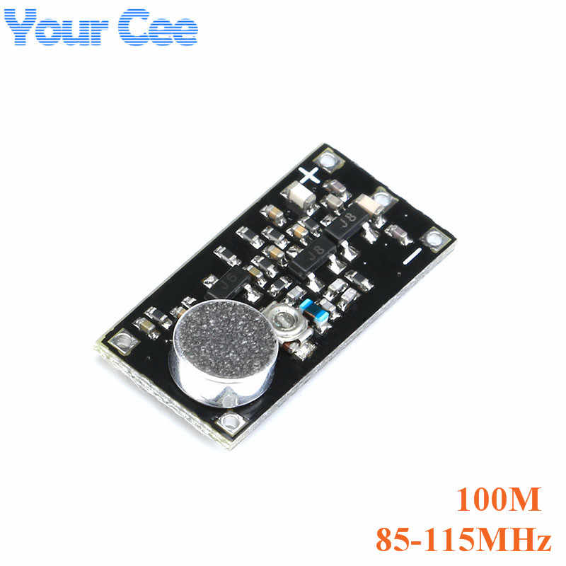FM Transmitter Wireless Microphone Surveillance Frequency Board Module For  Arduino Adjustable Capacitor DC 100M 800M 85-115MHz