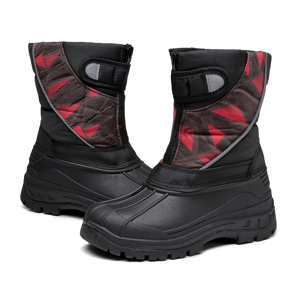 Stylish and simple for 4 16 years old children snow boots plus cotton waterproof non slip comfort boys and girls winter shoes in Boots from Mother Kids