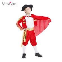 Umorden Purim Carnival Halloween Costumes Kids Children Spanish Matador Cosplay Spain Bullfighter Costume for Boy Boys