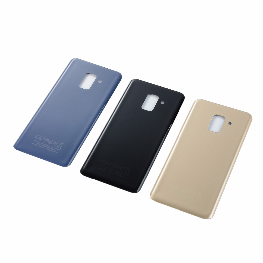 For Samsung Galaxy A8+ A8 Plus 2018 A730 A730F A730DS Back Glass Battery Cover Rear Door Housing Case+Adhesive(A730 All Versions