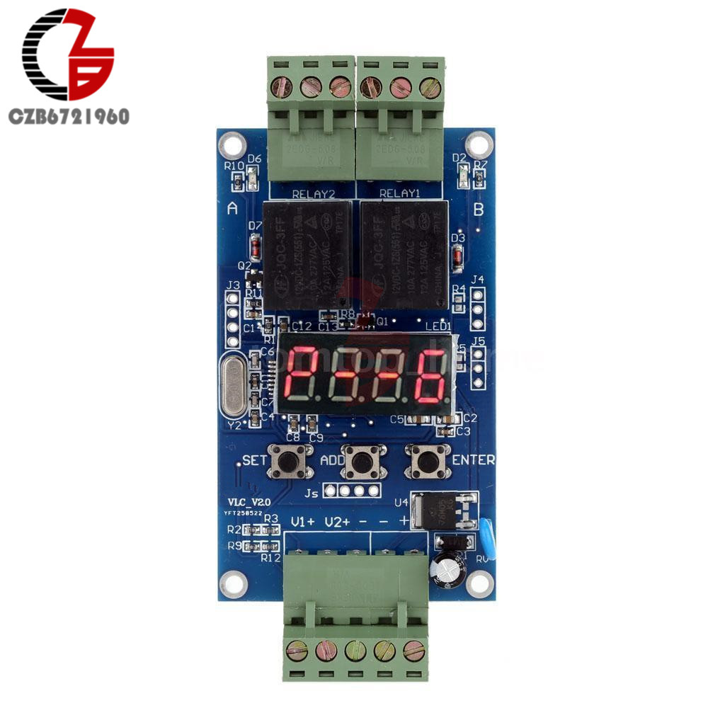 DC 12V Dual Programmable Relay Control Cycle Delay Timer Timming Clock Switch dc 12v led display digital delay timer control switch module plc automation new