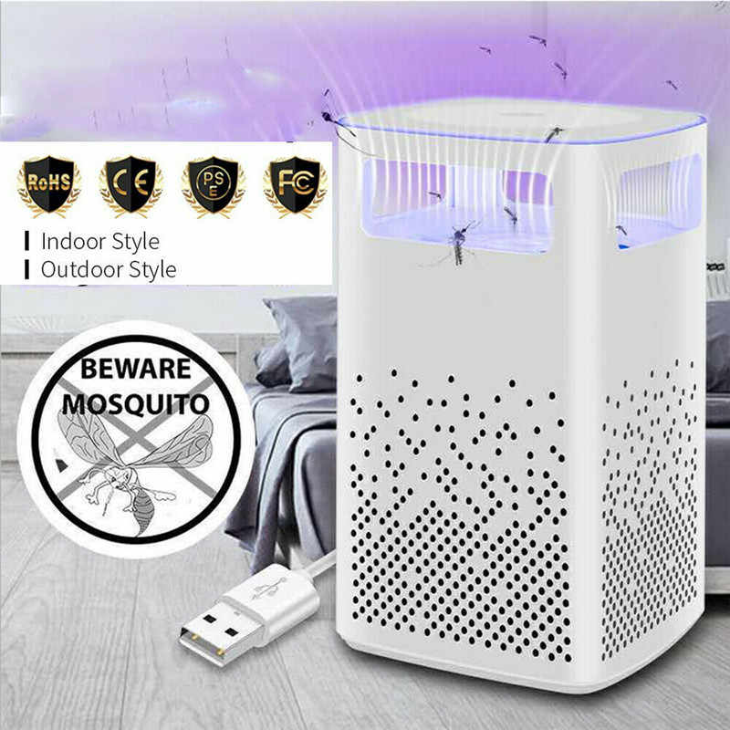 Bionic Violet Light USB Photocatalyst Repellent Bug Trap Lamp With A Light-controlled Sensor For Indoor / Outdoor Smart Home