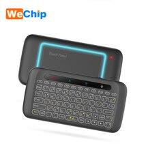 H20 Mini Draadloze Toetsenbord Backlight Touchpad Air Mouse Ir Leunend Afstandsbediening Voor Andorid Box Smart Tv Windows Pk H18 plus