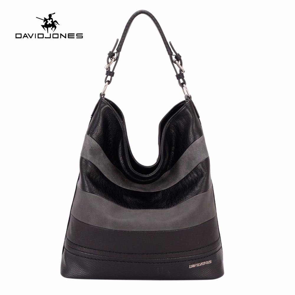 DAVIDJONES Large Capacity Women Shoulder Bag Crossbody Bags Female Handbag Fashion Brand Designer Tote Bags New Hobos Handbags