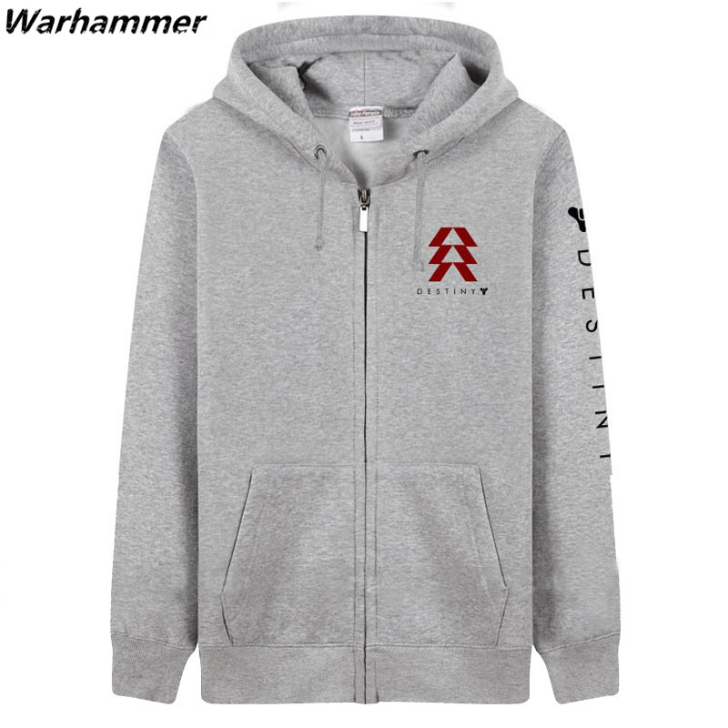 XBOX Game Destiny Zipper Hoody Sportswear Warm Thick Fleece Winter Casual Pullover Colored Game Player S