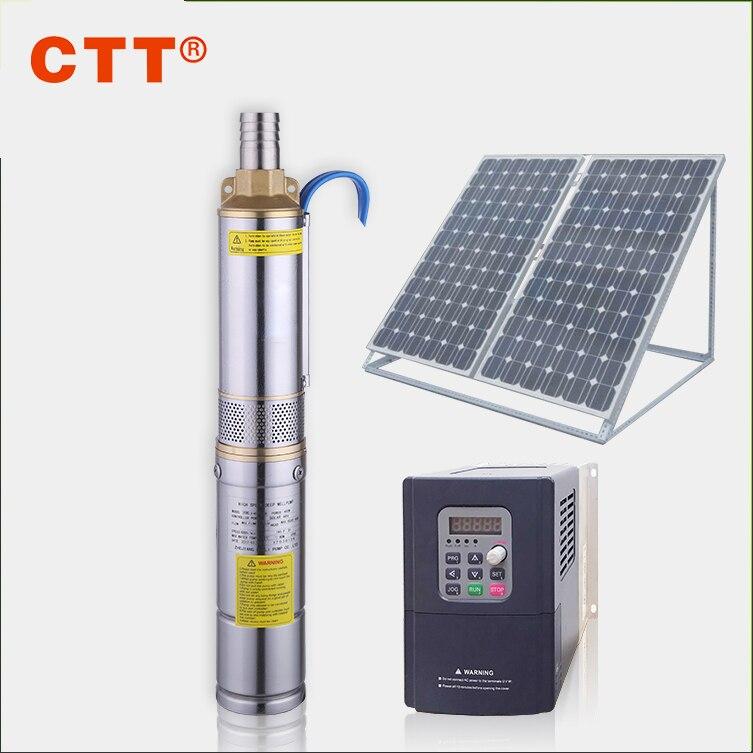 3FLA2-110-1.5 DC300/AC220V bomba de agua solar sumergible para pozos