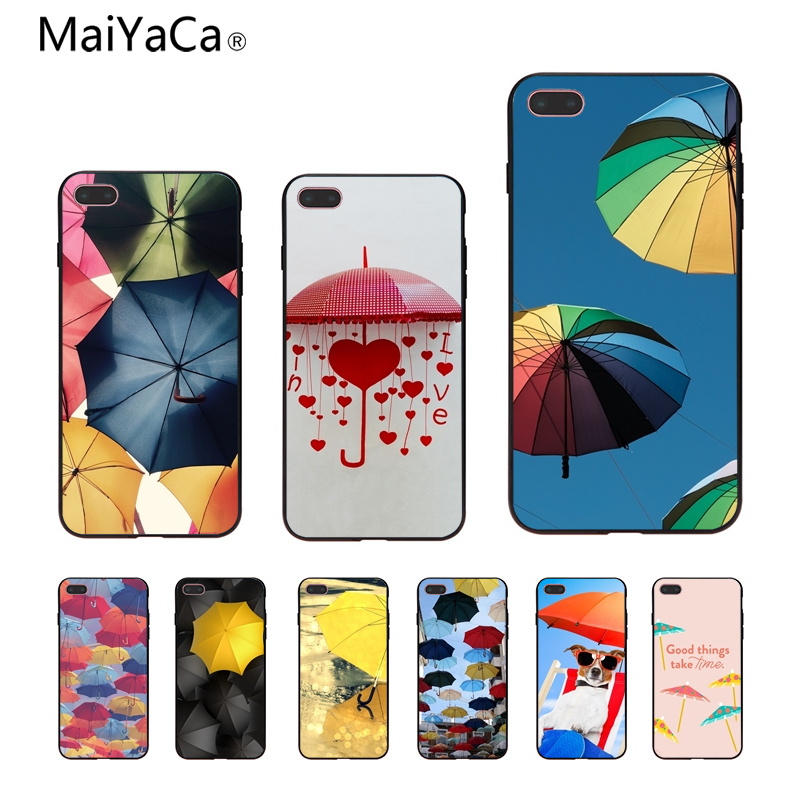 MaiYaCa COLOR UNBRELLA Diy Luxury High-end Protector phone Case For iphone 8 8plus 7 7plus 6 6plus 5 5s 5c SE Mobile cover