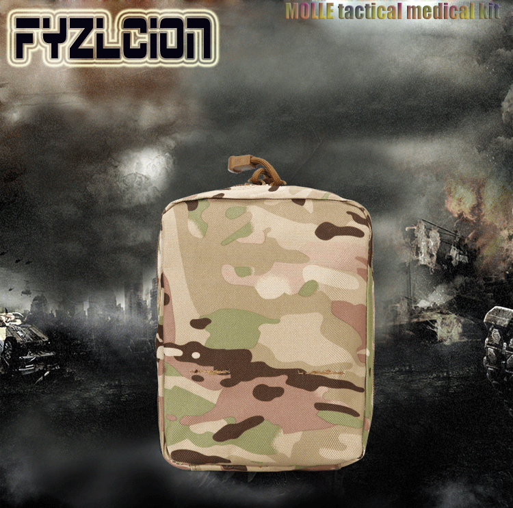 Tactical Medical Bag Molle Nylon Waterproof Sundries Accessory Kettle Camouflage Storage Pockets