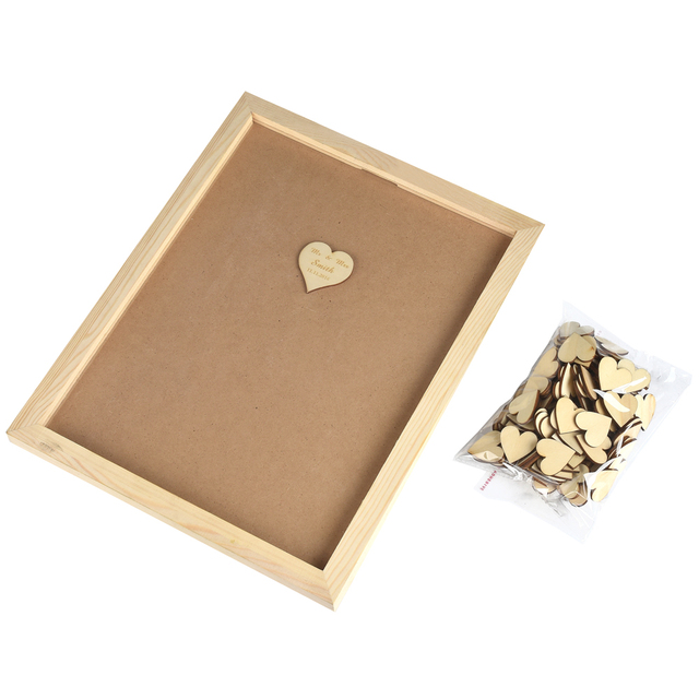 Online Shop Personalized Engraved Rustic Wooden Wedding Guest Book ...