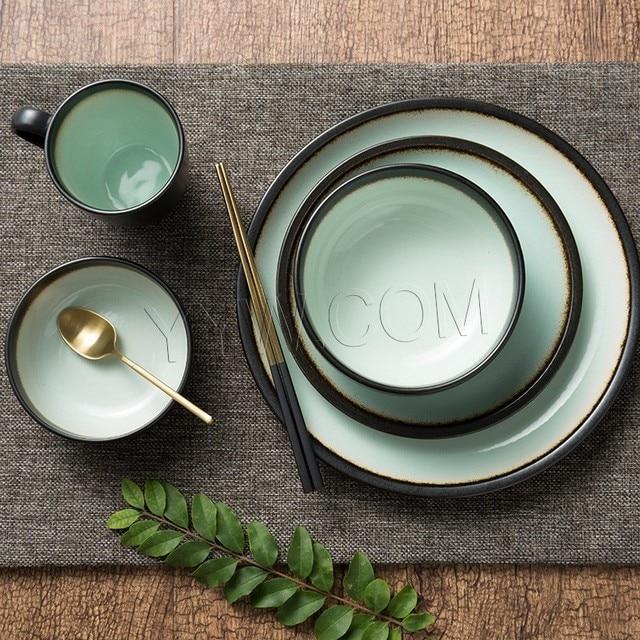 Beau 1 Pièces Vaisselle Style Chinois Couverts Vintage Qualité Vaisselle Bol  Vaisselle Tasse à Café Salle à