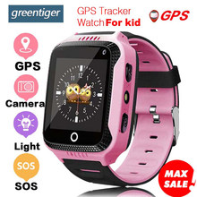 Greentiger Q528 GPS Kids Smart Watch with Touch Screen Camera GPS Tracker Smart watch children Monitor SOS for Baby PK Q50 q90(China)