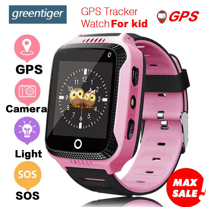 Greentiger Q528 GPS reloj inteligente con cámara de pantalla táctil GPS Tracker reloj inteligente niños Monitor SOS para bebé PK q50 q90