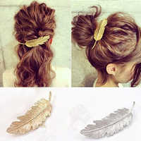 Women's Vintage Style Leaf Hair Clip Pin Claw Leaves Hairpin Barrette Accessory Crystal Pearl Hairpin Hair Claws Accessories