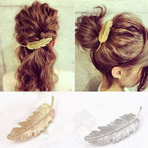 Clip-Pin Hairpin Barrette-Accessory Claw-Leaves Crystal Vintage-Style Women's