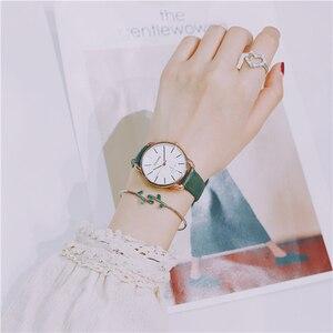 المرأة الساعات رائعة بسيطة الأزياء الفاخرة الكوارتز المعصم العلامة التجارية امرأة ساعة Reloj موهير 2019 سوار ساعة نسائية
