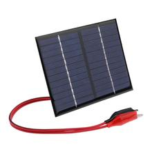 1,5 Вт 12 В солнечная батарея панель s Cell модуль поликремниевая Гибкая солнечная панель «сделай сам» Внешний аккумулятор зарядное устройство с зажимом