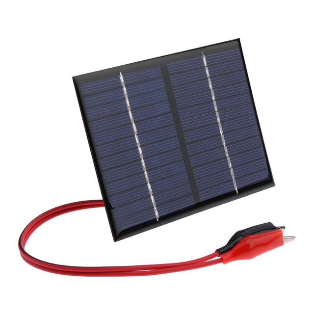 1.5W 12V Solar Battery Panels Cell Module Polysilicon Flexible DIY Solar Panel Power Bank Battery Charger with Clip