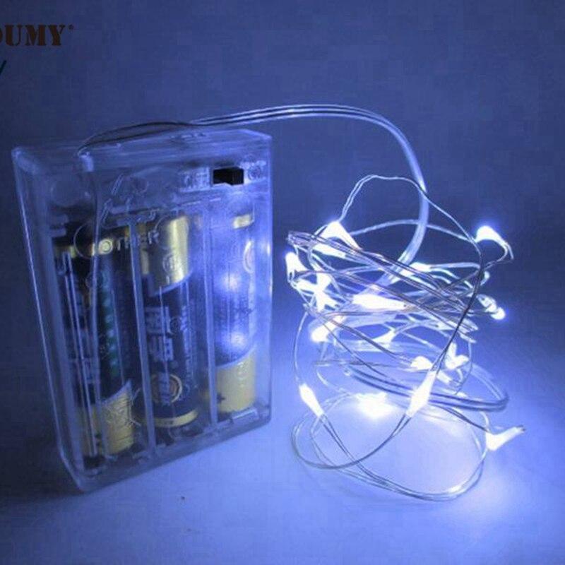 SZYOUMY декор Күміс сым LED 3M мыс сым 3 AA - Мерекелік жарықтандыру - фото 4