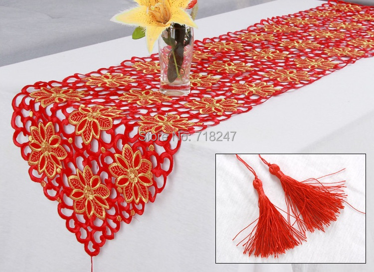 Xmas Table Linen Part - 47: Aliexpress.com : Buy New Hot Sale Christmas Embroidery Satin Tablecloth Red  Solid Color Full Embroidered Xmas Table Linen Cloth Cover Overlay 766 From  ...