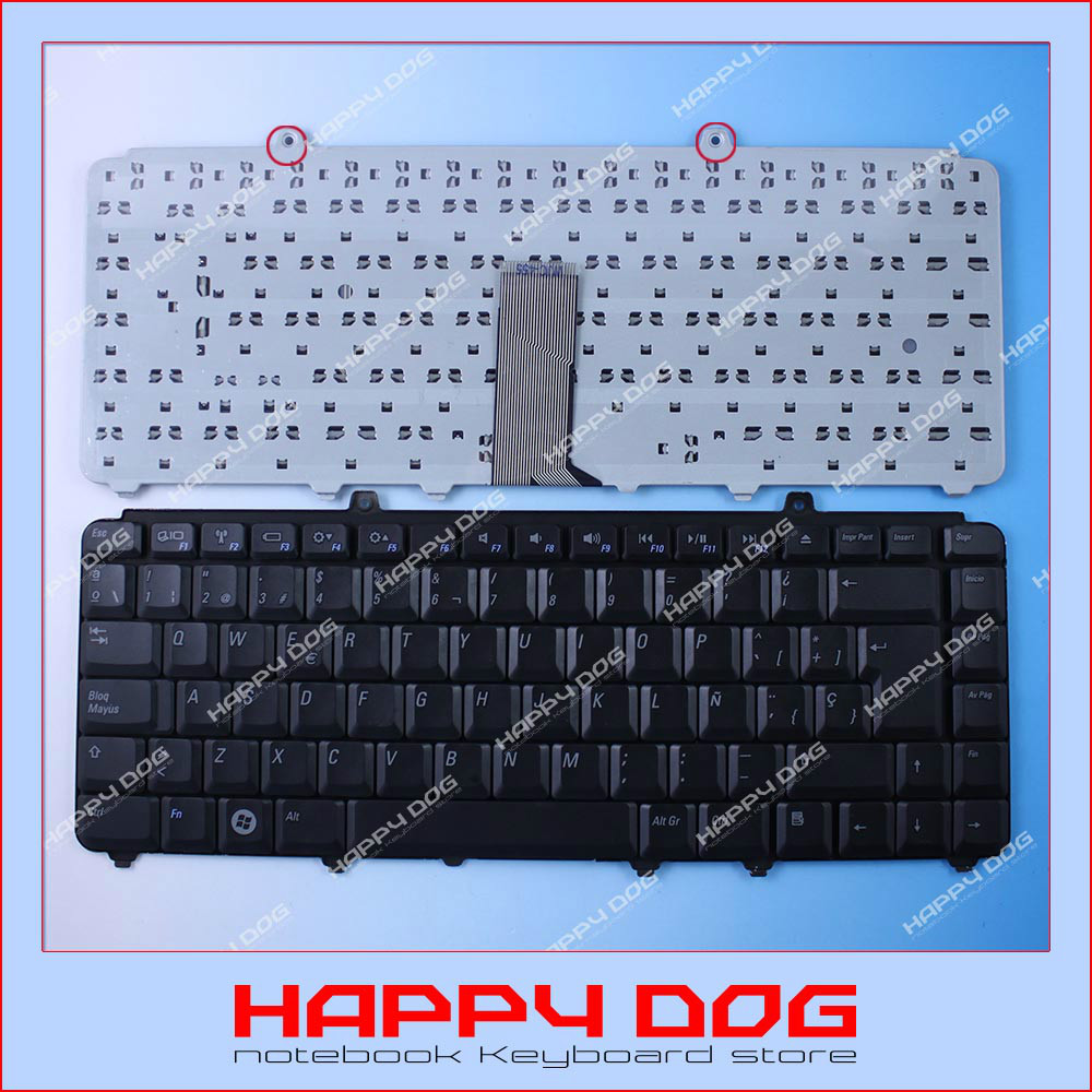 teclado Brand New Black SP Laptop Keyboard For Dell Inspiron 1400 14201500 1520 1521 1525 1540 1545 XPS M1330 M1530