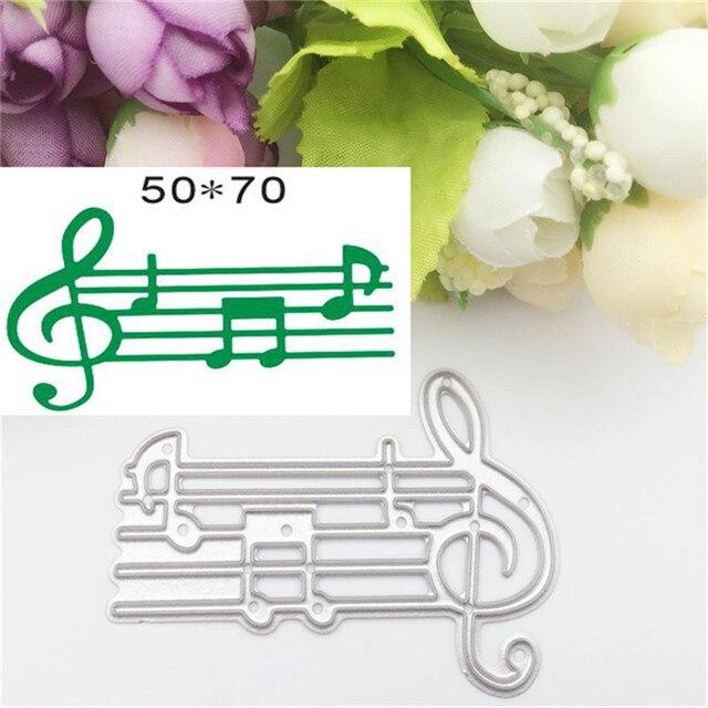 Cuenta de la música diseño de Troqueles De Corte tarjeta de papel ...