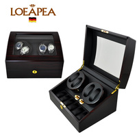 Classical 4+6 automatic watch winder Japan motor watch box chain winder box with top glass window for Father's gift box