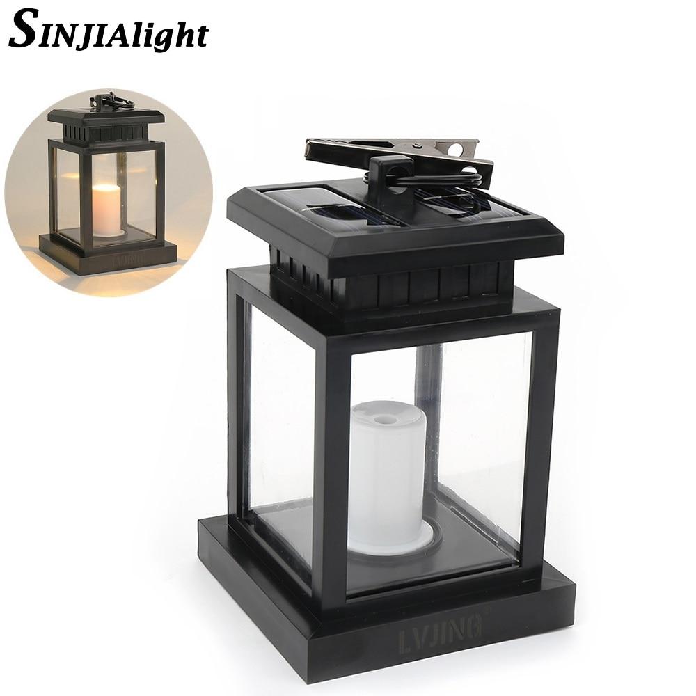 Außen Kerze Laterne Solar Lampe Solar Powered LED Beleuchtung ...