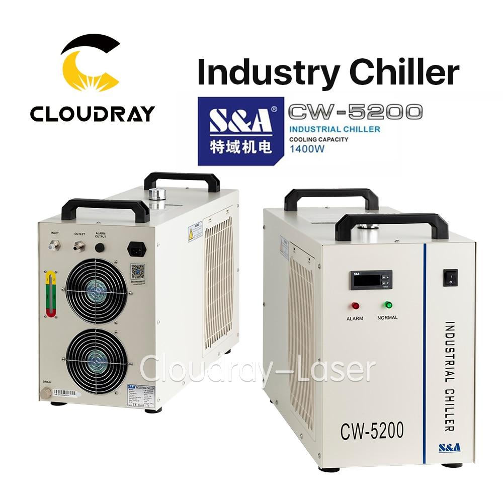 Cloudray S & CW5200 CW5202 промышленность воздушный охладитель воды для CO2 лазерной гравировки, резки охлаждения 150 Вт лазерной трубки