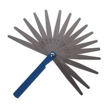 1PCS 0.02mm to 1mm 17 Blade Thickness Gap Metric Filler Feeler Gauge Measure Tool