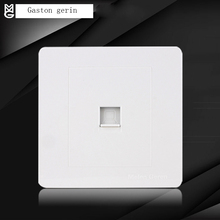Wall Computer/Data/Network Socket Connector Power Socket Internet Outlet Single Port Electric Outlet Panel Wall Mounted 220V new