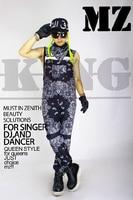 Bigbang Rights Zhi Long GD Teayang Sun Black White Paisley Overalls Paragraph Men S Fashion Stage