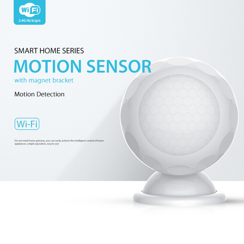 NEO WiFi nouveau capteur de mouvement PIR Mini forme blanc détecteur de mouvement détecteur Intelligent système d'alarme à la maison avec support d'aimant