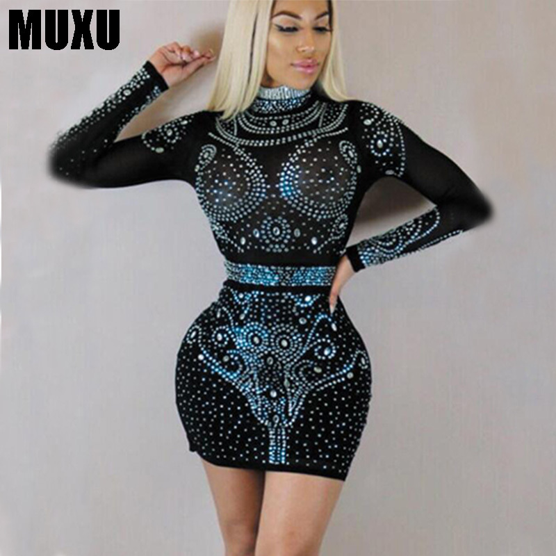 MUXU pencil dress patchwork vestidos  jurken vestidos mujer women clothing long sleeve dress mini sukienka fashion free shiping