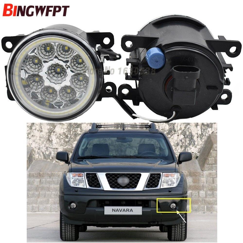 2pcs lot LED Fog Light with eye For NISSAN Navara D40 Note E11 Pathfinder R51