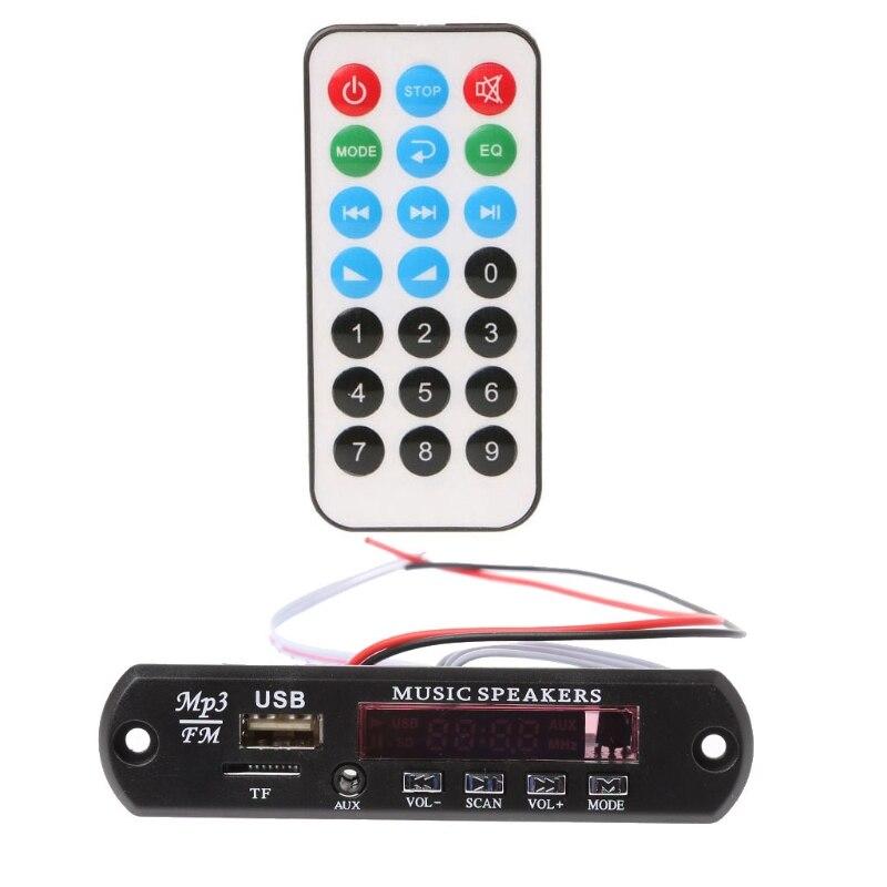 MP3 декодер доска Дистанционное Управление USB MP3 WAV MMC карты памяти FM Cut памяти-in Пульты ДУ from Автомобили и мотоциклы