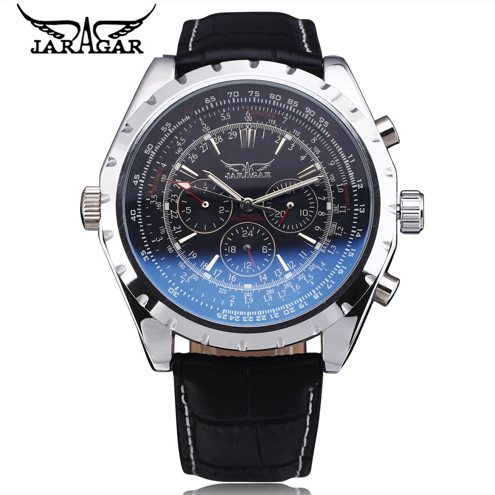 JARAGAR Men's Week Day Automatic Mechanical Watch Stainless Steel Watch Wristwatch  Gift Free Ship samsung galaxy s6 sm g920f 32gb lte white