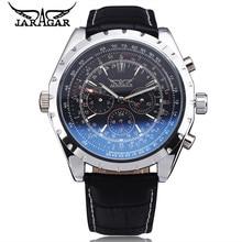 Día Semana JARAGAR hombres Reloj Mecánico Automático de Acero Inoxidable Reloj de Pulsera Nave Libre Del Regalo