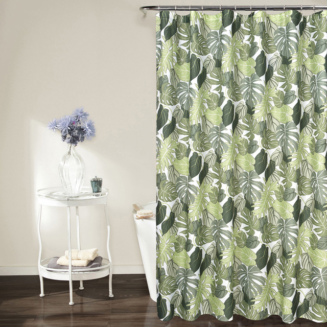 SunnyRain 1 Piece Printed Water Resistant Shower Curtain Polyester Bath For Room