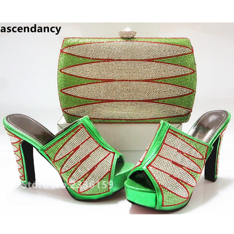 Ventes Noir vert Africain De Mariage Décoré Strass Sac Avec Chaussures Et rouge Ensemble En Assorties Ensembles bleu or Femmes Partie QrEdxoeWCB